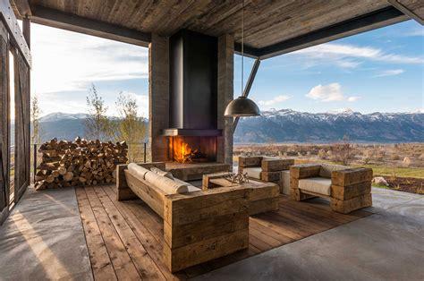 pearson design group дизайн частного дома в горах от pearson design group