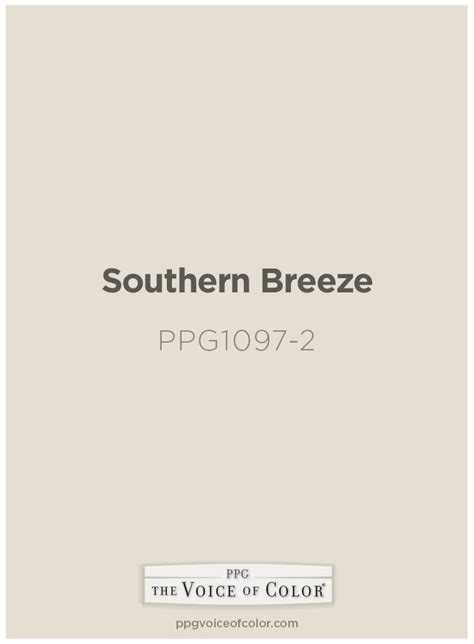 southern paint color by ppg voice of color is
