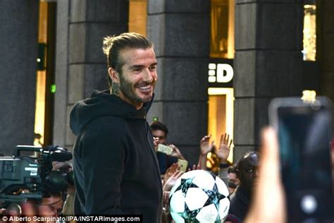 Beckham Wednesday by David Beckham Mobbed By Fans At Opening Of Adidas Store