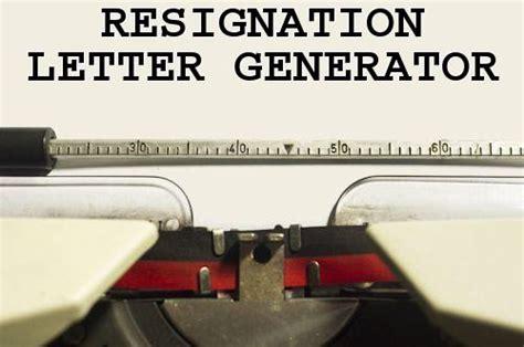 Resignation Letter Generator by Resignation Letter Generator