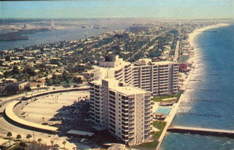 Clearwater Florida Records Florida Memory Aerial View Of Mandalay Shores Apartments And The Clearwater