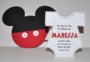 mickey mouse invitations baby shower baby shower invitations