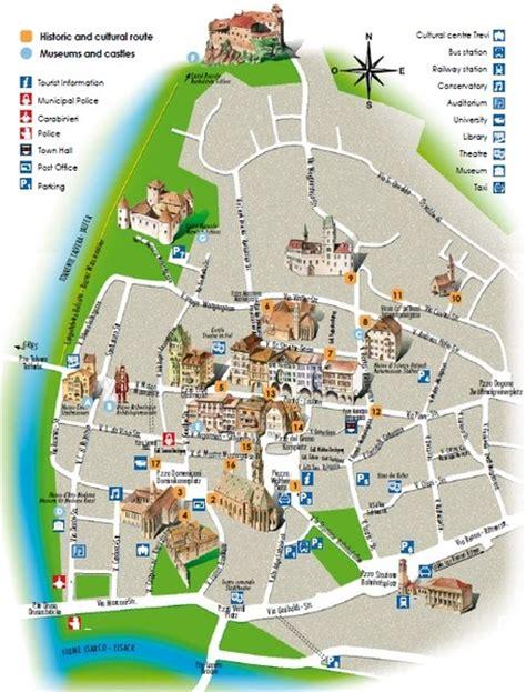 di trento e bolzano on line bolzano tourist map bolzano italy mappery citiestips