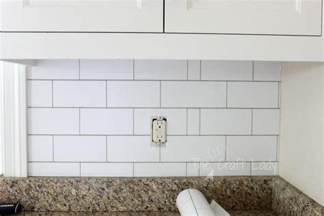 removable wallpaper backsplash white subway tile temporary backsplash the full tutorial