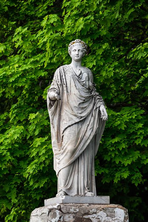 demeter greek goddess statue marble statue of roman ceres or greek demeter in stock
