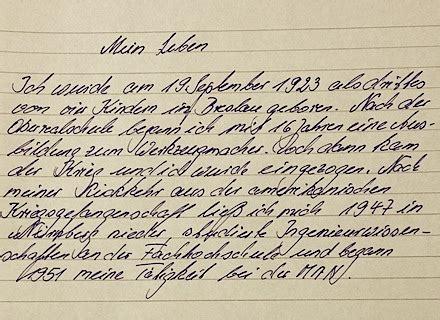 Handschriftlicher Lebenslauf Muster by Handgeschriebener Lebenslauf Beispiel Ausfhrlicher