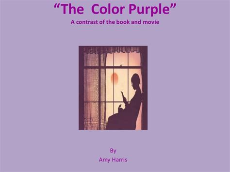 the color purple book and the color purple