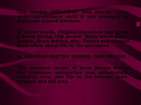 themes of philippine literature philippine literature in english