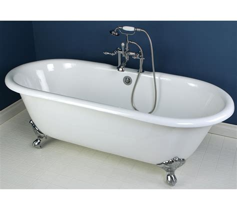 54 Inch Cast Iron Bathtub by Kingston Brass Vct3d543019nt8 54 Inch Cast Iron Roll Top