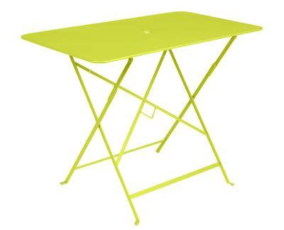 Table Fermob Bistro 97 X 57 Table Pliante Bistro 97 X 57 Cm 4 Personnes Trou Parasol Verveine Fermob