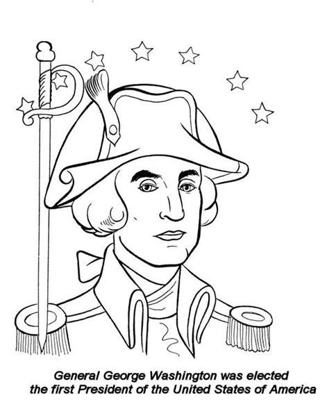 george washington coloring page for kindergarten george washington coloring pages coloring home