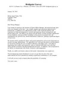Administrative Assistant Cover Letter Exles by Administrative Assistant Cover Letter Resume Cover Letter