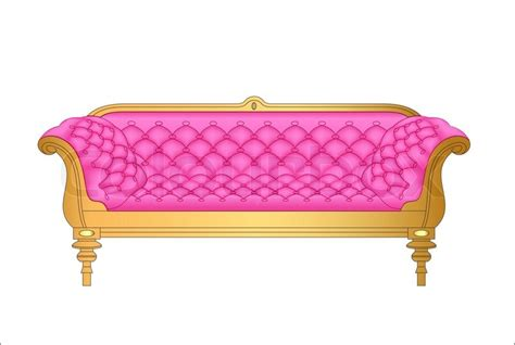 pink sofa browse of a pink vintage sofa on white stock vector colourbox