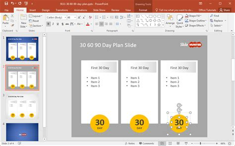 Free 30 60 90 Day Plan Powerpoint Template 30 60 90 Day Project Plan Template
