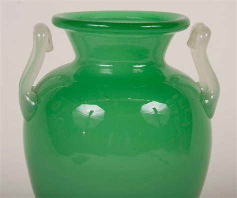 Steuben Vases by Steuben Jade Green Glass Vase Signed F Carder For Sale At