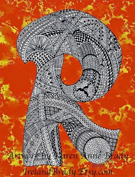 doodle inisial 17 best images about zentangle inspirations on