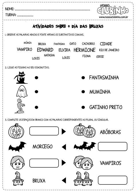 Atividades para alfabetização – Halloween (Dia das Bruxas