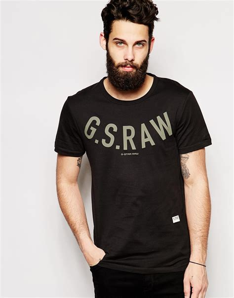 T Shirt G S lyst g t shirt paos g s print in black for