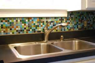 Multi Colored Backsplash - glass tile mosaic backsplash domestication pinterest