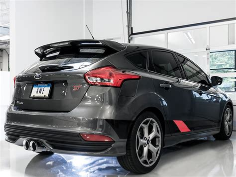 ford tips awe tuning track exhaust focus st mk3 chrome tips