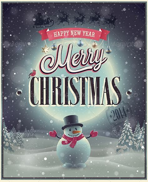 amazing christmas poster templates   sample templates