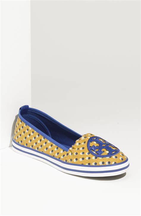 burch slip on sneaker burch slip on sneaker in yellow a jelly blue