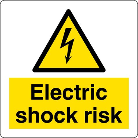 Etiketten Zeichen by Electric Shock Risk Labels From Key Signs Uk