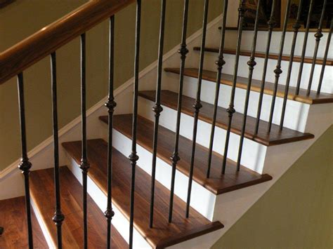 iron balusters stairs ideas install railing stairs and