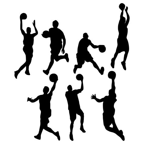 free clipart basketball free silhouette basketball cliparts free clip
