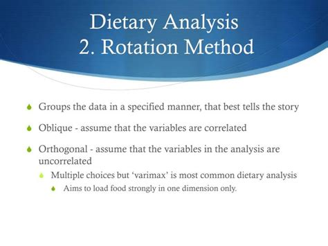 pattern analysis ppt ppt ffqs and dietary pattern analysis powerpoint
