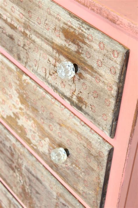 How To Decoupage On Wood With Paper - decoupage napkin dresser refunk my junk