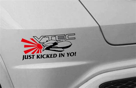 Sticker Stiker Mobil Motor My Dohc Jdm vtec sticker on side of car custom sticker
