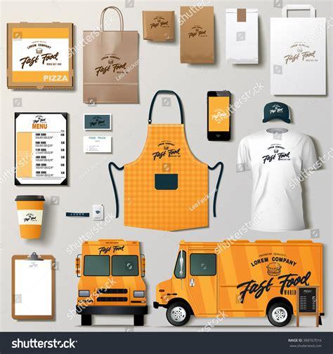 food truck design template vector food truck corporate identity template stock vector