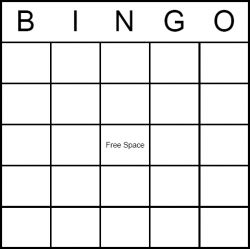 bingo card templates for teachers learning through