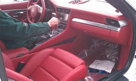 white porsche red interior carrara white 991s with carrera red interior pictures
