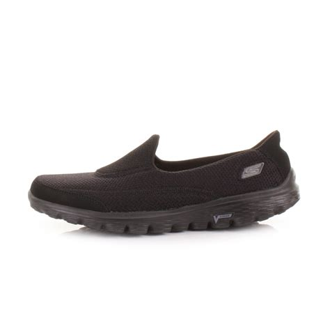 all black walking shoes skechers go walk2 all black lightweight comfort