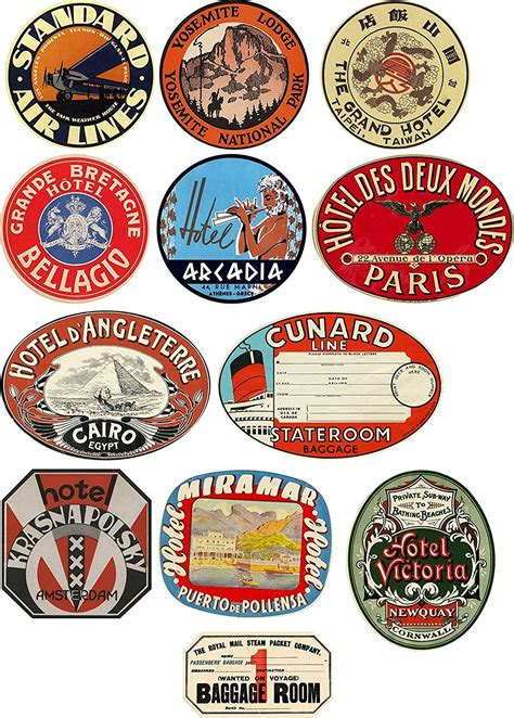 printable luggage stickers vintage vintage suitcase with stickers mc luggage