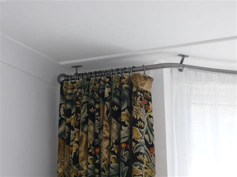 Ceiling Mounted Bay Window Pole by Bay Window Curtain Pole Ceiling Fix Home Design Decor