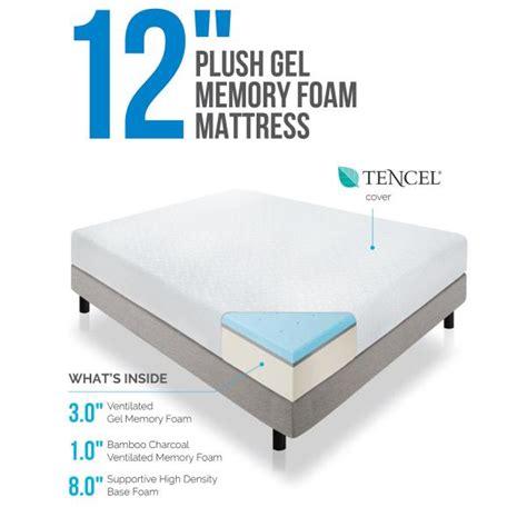 Repacking Memory Foam Mattress 12 quot gel memory foam plh mattre by lcid linenspa