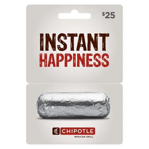 chipotle 25 gift card target - Chipotle 25 Gift Card Deal