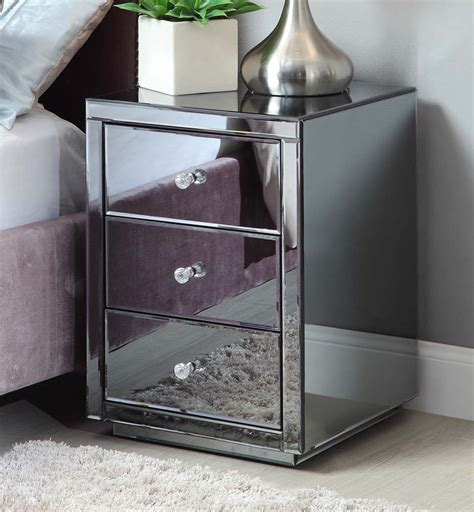 reading l bedside collection of bedside floor l collection vegas smoke mirrored bedside table chest mirror