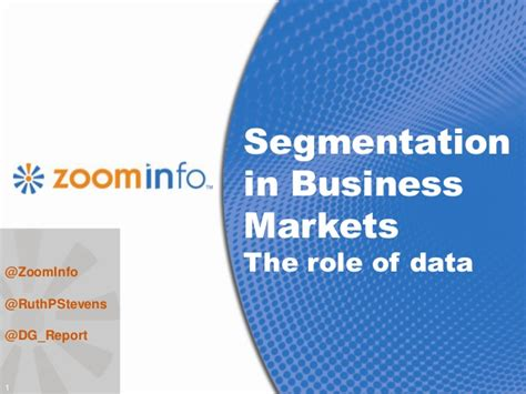Industrial Segmentation In Mba by Segmentation In B To B Markets The Of Data