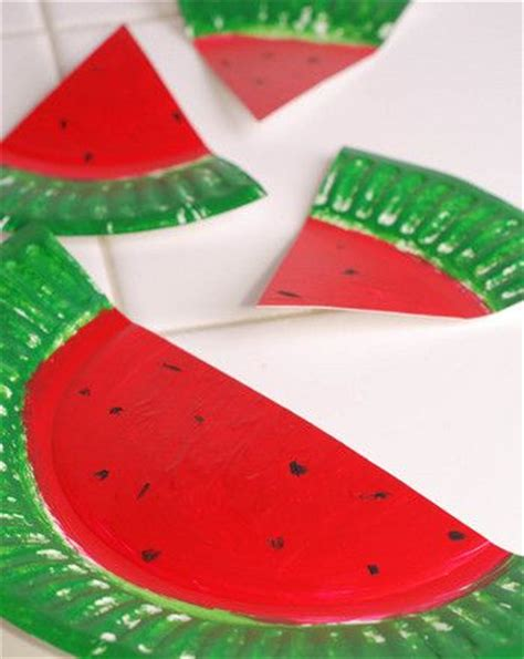 Watermelon Paper Craft - watermelon paper plates paper plates watermelon crafts