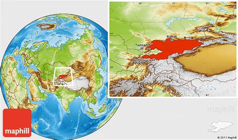 middle east map kyrgyzstan physical location map of kyrgyzstan
