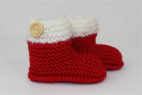 knitting instructions chunky baby christmas booties boots
