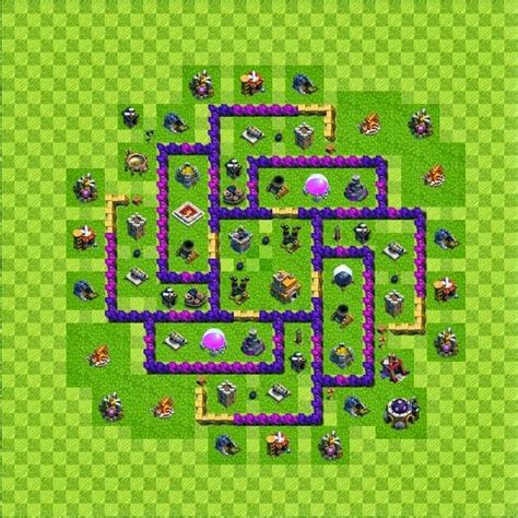 defense layout in coc tipe defense base layout town hall level 7 clash of clans