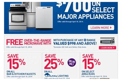 lowes appliance coupons 2018