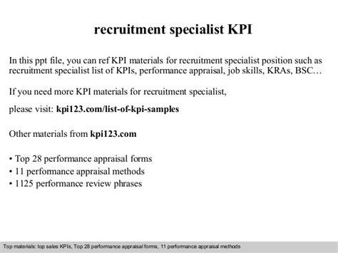 Recruitment Specialist Kpi Recruitment Kpi Template