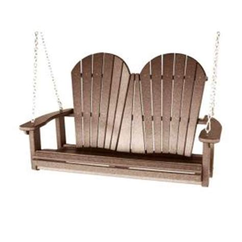 patio swing home depot vifah roch recycled plastic adirondack patio swing in