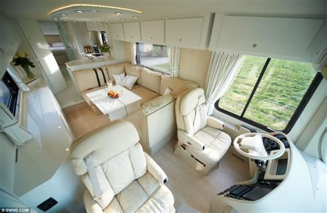 Tv Interior Mobil 1 2 million luxury caravan by volkner mobil